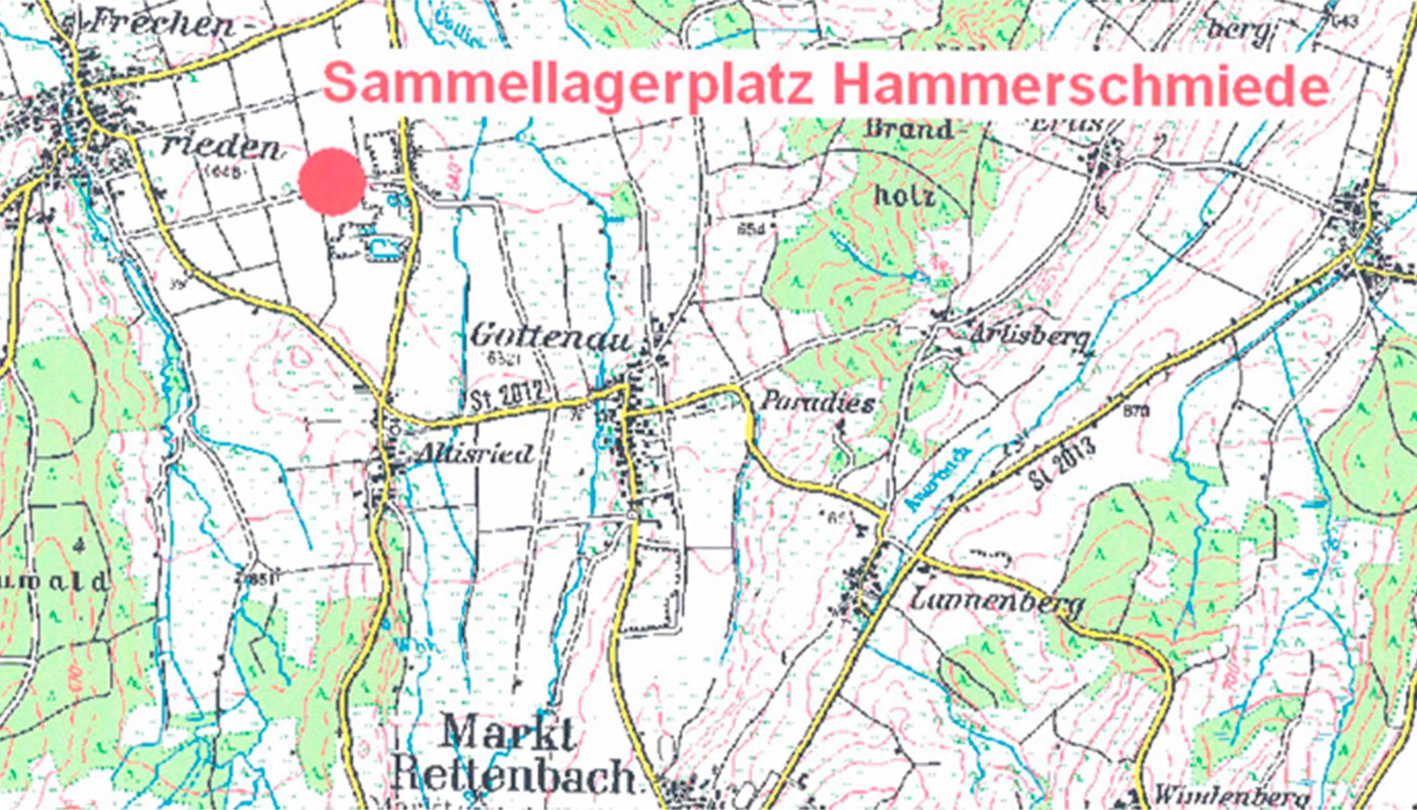 Sammellagerplatz Hammerschmiede